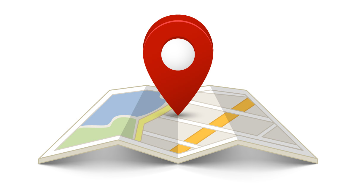 112216762-flat-color-location-icon-on-paper-map